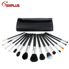 15 pcs makeup brush set with black PU case/makeup brush set