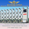 stainless steel electric automatic folding gate retractable company front gate design --J 1323