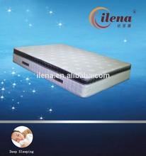 Bamboo pillow top pocket spring mattress with memory foam
