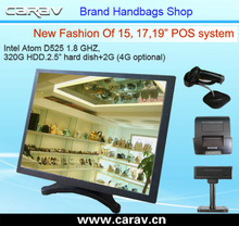 """pos system 15"""" fanless touch panel PC with front IP65 other side IP54 ,RS232,aluminium industrial tablet pc pos machine"""