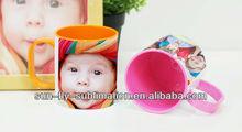 mugs sublimation, 12oz inner and rim colored polymer mug