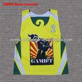 sublimada personalizadas lacrosse reversible jersey