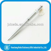 2014 New LED flashlight metal ballpoint Pen Style LED Light