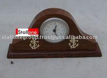 CLOCK WITH BRASS WORK