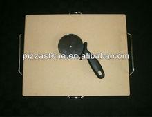 30.5x38cm CORDIERITE CERAMIC BBQ PIZZA STONE PIZZA PAN SET WITH RACK