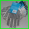 2013 new safety equipment product with mark nature white knitting gloves with pvc dots from factory
