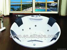 Four Person Luxury Whirlpool Indoor Acrylic Massage Bathtub C546