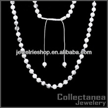 6mm Natural Howlite Necklace gold necklace designs in 10 grams