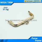 No.9191 light gold custom cluth purse wholesale coin purse frame metal fashion coin purse 17.1g