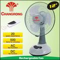 """Cr-6312r 12"""" usha led recargable del ventilador"""