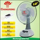 "CR-6312R 12"" led usha rechargeable fan"