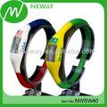 relojes digitales de lujo de silicona diseño promoción del regalo personalizada