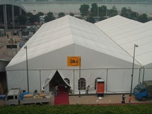 Permanent outdoor warehouse tent