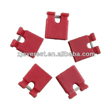 RED Mini Jumper Plug / Header Black for Pitch 2.54mm close or open type