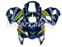 Fairing Kit for CBR600 1999 F4 99 00 CBR 600 F4 1999 2000 CBR600RR F4 99-00 CBR 600RR F4 BodyKit movistar blue yellow green