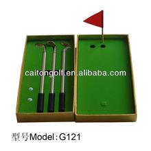 Hot sale Three Pen Golf Gift Set G121 Golf Metal Pen Gift Set Popular Golf Pen Gift Set