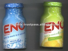 Eno Fruit Salt bottle and pouch for acidity