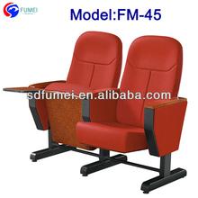 FM-45 Movable fabric folding church arm chairs in Foshan