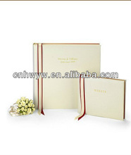 Photo album/album for wedding with memo space and ribbon