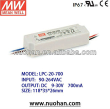 MeanWell 20w 700ma switching power supply/20W Single Output Switching Power Supply/led driver