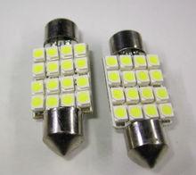 41mm 16SMD 1210 LED Canbus Festoon Dome Light Lamp Bulb DC 12V Warm White