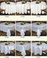 La mesa del hotel/mantel banquete de/restaurante 100g jacquard de poliéster de color sólido tablecover/hotel cubierta de tabla/tabla de la barra de la cubierta