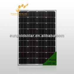 100w mono solar photovoltaic panel price in china