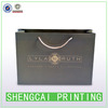 High quality hot stamping high end suit paper bag