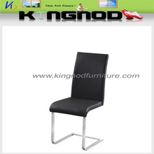 Elegant Leather And Chrome Metal Dining Chair