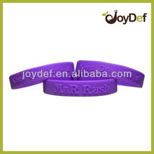 Personalized Colorful Embossed 100% Silicone Wristbands
