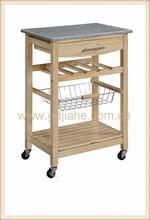 2014 granite top kitchen mobile storage ,stone kitchen storage cabinet trolleys
