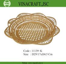 Flower shape bamboo fruit basket