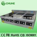 comercial quemadores de seis aparatos eléctricos para la cocina de un restaurante