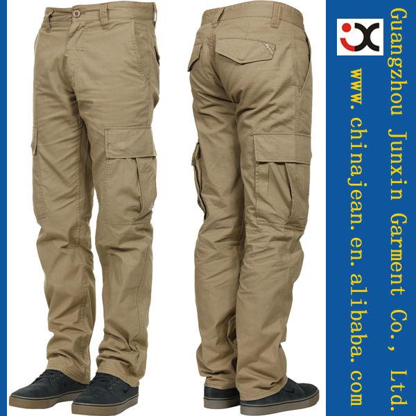 أحدث أزياء الرجال السراويل البضائع الرخيصة سروال كاكي شحن jx16011