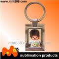 A23 tùy chỉnh OEM in khuyến mại blanks sublimation kim loại móc chìa khóa