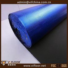 blue EVA foam underlayment for interior wood floor
