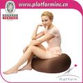Perlas cojín en el suelo la forma del huevo grande pelotita suave sofá perezoso silla baja