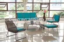 New Patent Rattan Sofa Set/ Stainless Steel Rattan Wicker Furniture/ Garden Sofa Set