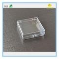 64*60*18mm transparente injeção de tampa articulada pequenas caixas de plástico