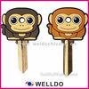 monkey animal rubber key head cover