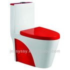 Siphonic one piece toilet bowl, red toilet,colored toilet, 338