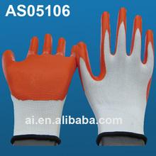 13G Nylon / Polyester Nitrile Coated Palm glove, nitrile work gloves, EN 388