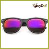Flat Matte Black Magenta Revo Lens Wayfarer Sunglasses Custom Plastic Sunglass