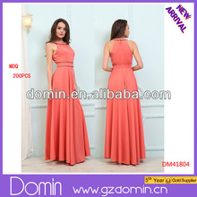 Latest Long Maxi Dress Design Ladies Fashion Dress 2015 Sleeveless Dresses for Women