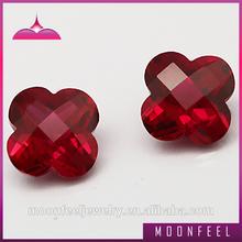 corindón rojo gema piedra flor facetas ruby cuentas