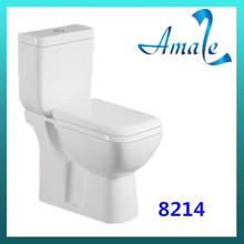 Big size beauti style two flush WDI economic cermaic bathroom two piece toilet
