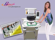 Cheap price T-shirt and cap single head computerized embroidery machine