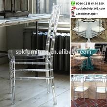 Foshan Polycarbonate PC clear acrylic chiavari chair for event wedding