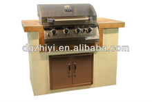 2014 high gloss kitchen island for korean electric bbq grill