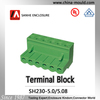 Sanhe connector Manufacture pluggable terminal block 5.0/5.08mm
